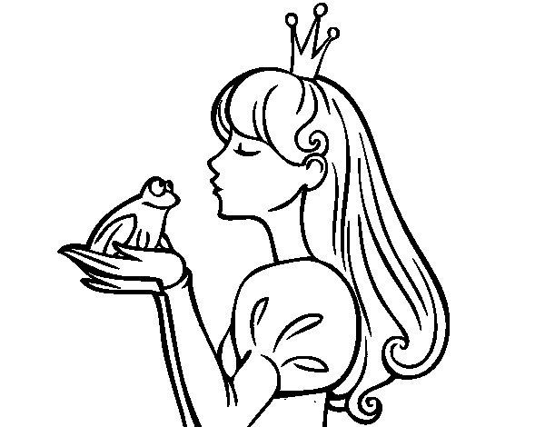 Coloriage de la princesse et la grenouille pour colorier - Coloriage la princesse et la grenouille ...