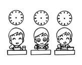 <span class='hidden-xs'>Coloriage de </span>Laes heures de repas à colorier