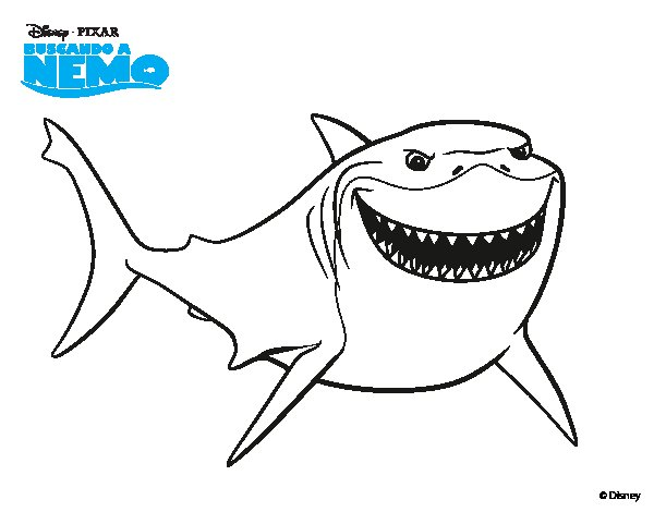 Free Coloring Pages Of Finding Nemo Shark