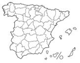 Dibujo de Les provinces de l'Espagne