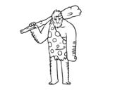 <span class='hidden-xs'>Coloriage de </span>L'homme des cavernes à colorier