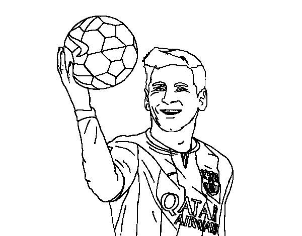 Coloriage de Lionel Messi pour Colorier