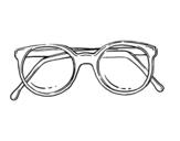 <span class='hidden-xs'>Coloriage de </span>lunettes rondes de pâte à colorier