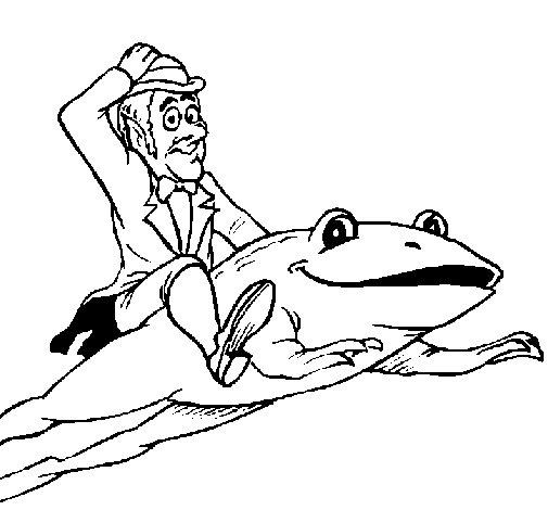 Coloriage de Lutin et grenouille pour Colorier
