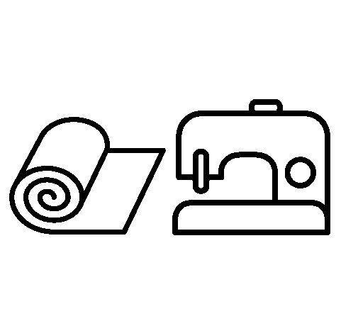 Coloriage de Machine à coudre pour Colorier