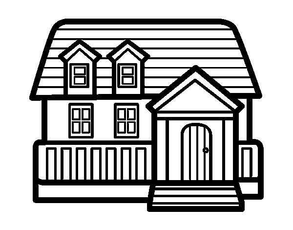 Coloriage de maison am ricaine pour colorier for Concevez et construisez votre propre maison en ligne