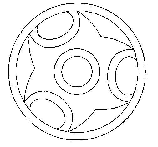 Coloriage de Mandala 12 pour Colorier