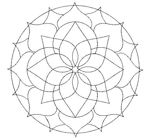 Coloriage de Mandala 14 pour Colorier