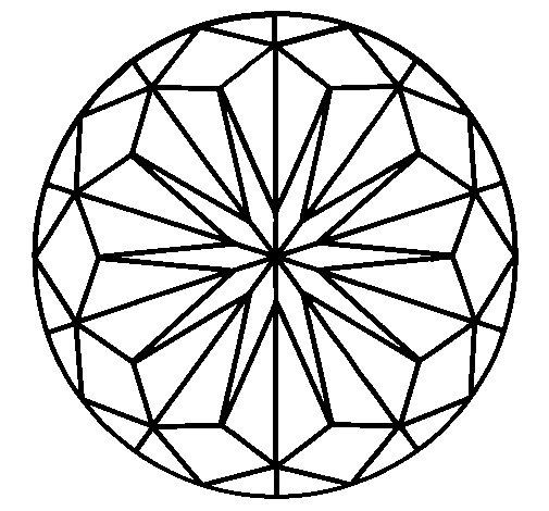 Coloriage de Mandala 41 pour Colorier