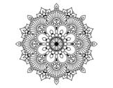 <span class='hidden-xs'>Coloriage de </span>Mandala éclat floral à colorier