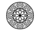 <span class='hidden-xs'>Coloriage de </span>Mandala fleur de bambou à colorier