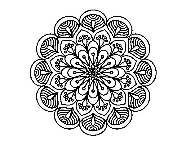 Mandalas De Animales Para Pintar Abstracto Pintar Tattoo: Coloriage De Mandala Fleur Et Feuilles Pour Colorier