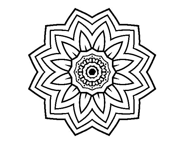Coloriage De Mandala Fleurs De Tournesol Pour Colorier