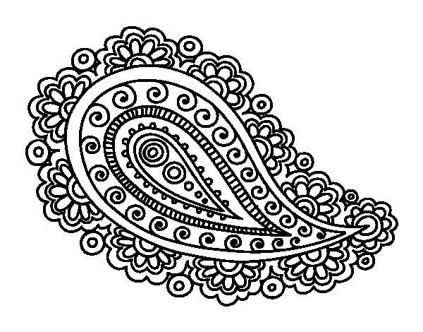 Coloriage de Mandala larme pour Colorier