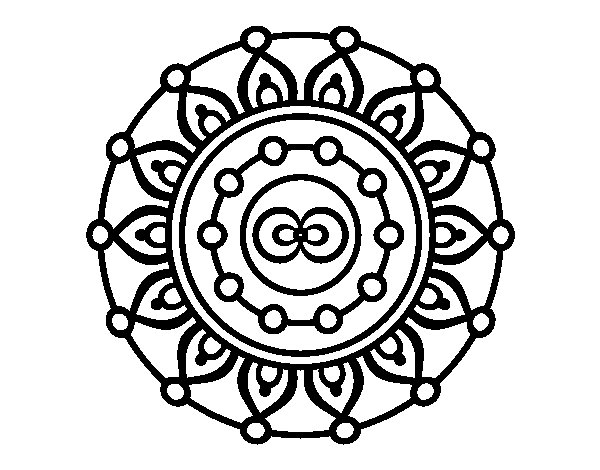 Coloriage de Mandala méditation pour Colorier