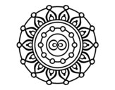 <span class='hidden-xs'>Coloriage de </span>Mandala méditation à colorier