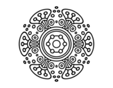 <span class='hidden-xs'>Coloriage de </span>Mandala monde lointain à colorier
