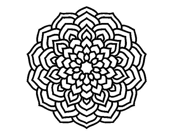 Coloriage de mandala p tales de fleur pour colorier - Coloriage fleur 3 ans ...