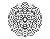 <span class='hidden-xs'>Coloriage de </span>Mandala pétales de fleur à colorier