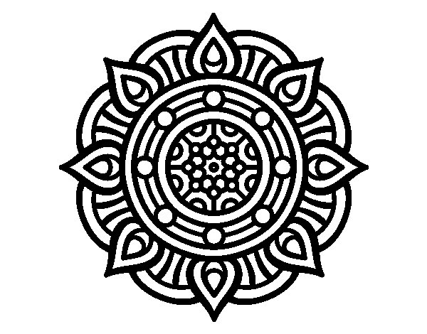 Coloriage de Mandala points de feu pour Colorier
