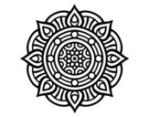 <span class='hidden-xs'>Coloriage de </span>Mandala points de feu à colorier