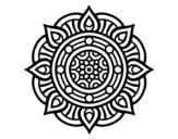 Dibujo de Mandala points de feu