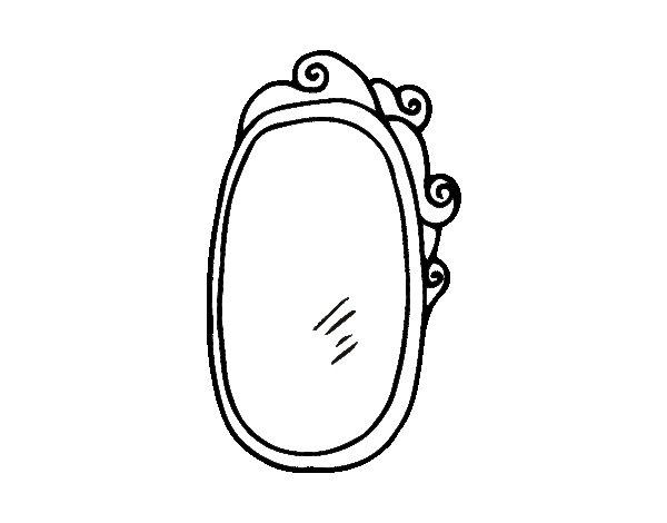 Coloriage de miroir encadr pour colorier for Miroir dessin