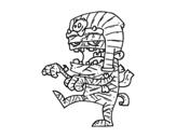 <span class='hidden-xs'>Coloriage de </span>Momie Tutankamon à colorier