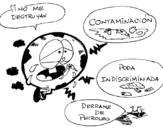 Dibujo de Monde pollué