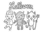<span class='hidden-xs'>Coloriage de </span>Monstres pour Halloween à colorier