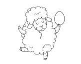 <span class='hidden-xs'>Coloriage de </span>Moutons de Pâques à colorier
