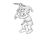 Dibujo de Nain travailleur