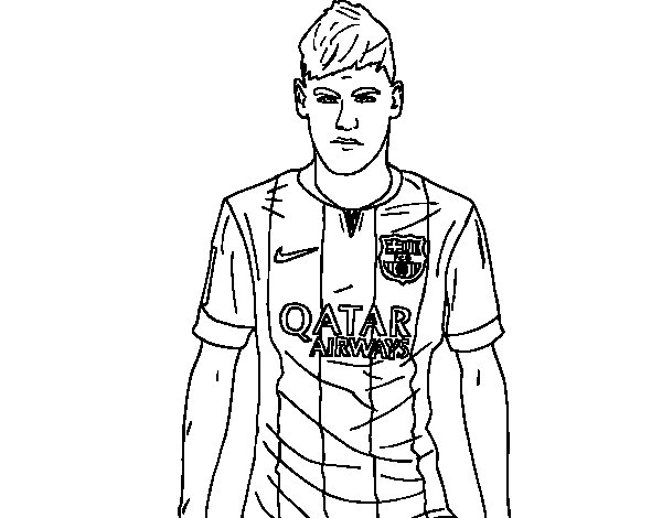 coloriage a imprimer neymar