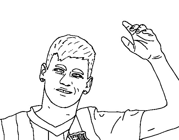 soccer coloring pages neymar barcelona - photo#17