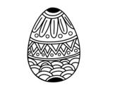 <span class='hidden-xs'>Coloriage de </span> Oeufs de Pâques décorés avec estampage à colorier