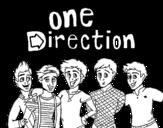 <span class='hidden-xs'>Coloriage de </span>One Direction 3 à colorier