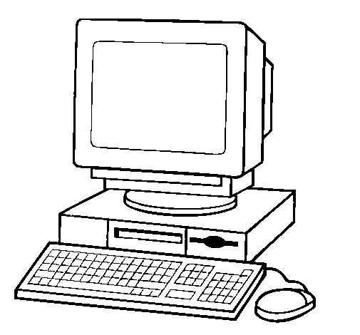 coloriage de ordinateur 2 pour colorier