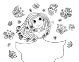 Dibujo de Papillons Princesse