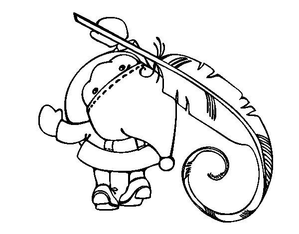 Coloriage de Père Noël écrit pour Colorier