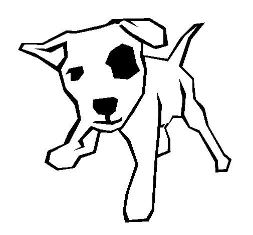 Coloriage de petit chien avec une tache dans l 39 il pour - Oeil a colorier ...