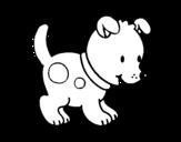 <span class='hidden-xs'>Coloriage de </span>Petit chiot à colorier