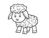 <span class='hidden-xs'>Coloriage de </span>Petite mouton à colorier