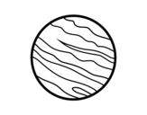 <span class='hidden-xs'>Coloriage de </span>Planète Jupiter à colorier