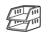 Dibujo de Plateaux empilables