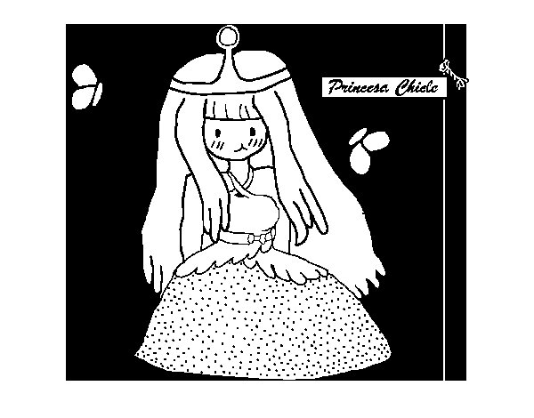 Coloriage de Princesse Chewing Gum pour Colorier