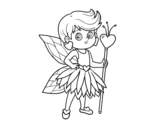 Dibujo de Princesse fée de coeurs