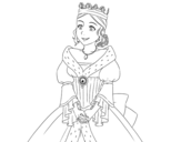 <span class='hidden-xs'>Coloriage de </span>Princesse médiévale à colorier