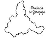 <span class='hidden-xs'>Coloriage de </span>Province de Zaragoza à colorier