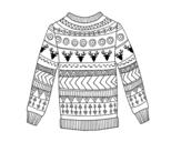 <span class='hidden-xs'>Coloriage de </span>Pull en laine imprimé à colorier