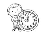 <span class='hidden-xs'>Coloriage de </span>Quelle heure il est à colorier